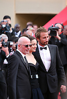 Director Jacques Audiard, Actress Marion Cotillard and Actor Matthias Schoenaerts at the gala screening of the film De rouille et d'os at the 65th Cannes Film Festival. Thursday 17th May 2012, the red carpet at Palais Des Festivals in Cannes, France.