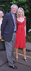 TV Film critic MR BARRY NORMAN with his daughter tv presenter SAMANTHA NORMAN, at a party in London on 30th June 1999.MTY 21