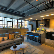In-unit photography at Roaster's Block, historic redevelopment of Folger's Coffee Plant in downtown Kansas City, Missouri.