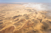 Aerial view of desert, Skeleton Coast, Northern Namibia, Southern Africa