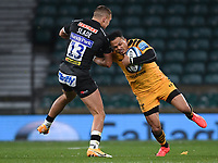 Rugby Union - 2019 / 2020 Gallagher Premiership - Final - Wasps vs Exeter Chiefs - Twickenham<br /> <br /> Wasps' Juan de Jongh is tackled by Exeter Chiefs' Henry Slade.<br /> <br /> COLORSPORT/ASHLEY WESTERN
