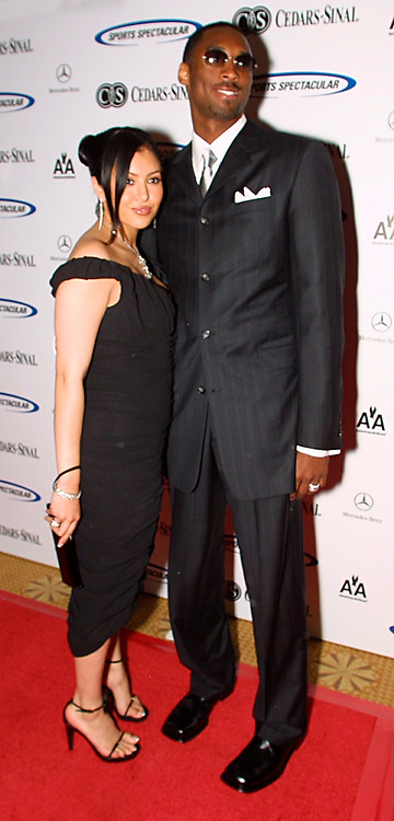 Jun 30, 2002; Los Angeles, California, USA; NBA Lakers allstar and honoree KOBE BRYANT arrives @17th annual Cedars-Sinai Sports Spectacular at the Century Plaza Hotel in Century City with wife Vanessa. Bryan sporting new indoor sunglasses.<br />Mandatory Credit: Photo by Shelly Castellano/ZUMA Press.<br />(©) Copyright 2002 by Shelly Castellano