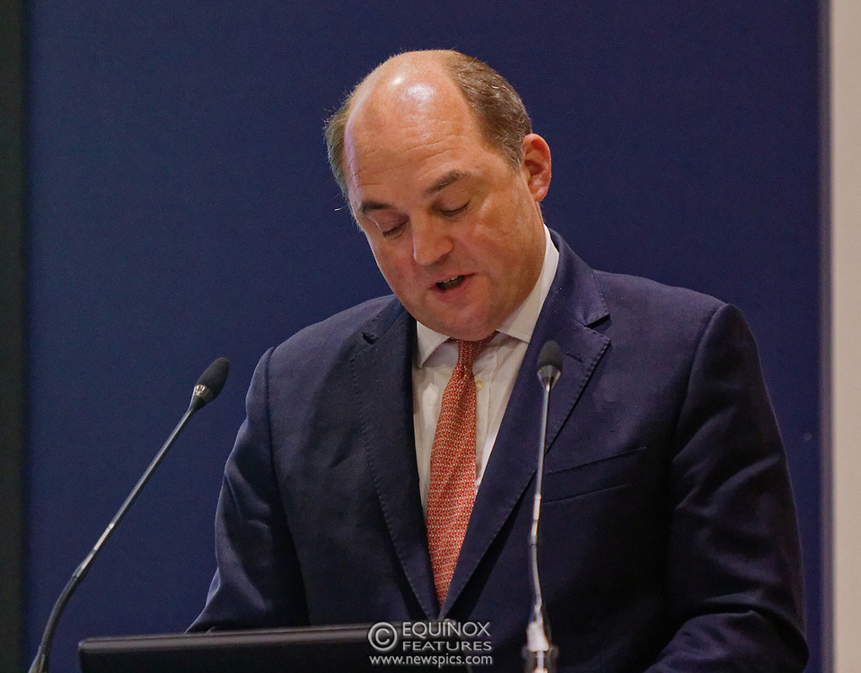 London, United Kingdom - 11 September 2019<br /> The Rt Hon Ben Wallace MP. Secretary of State for Defence for the UK Government presents keynote address speech to audience at DSEI 2019 security, defence and arms fair at ExCeL London exhibition centre.<br /> (photo by: EQUINOXFEATURES.COM)<br /> Picture Data:<br /> Photographer: Equinox Features<br /> Copyright: ©2019 Equinox Licensing Ltd. +443700 780000<br /> Contact: Equinox Features<br /> Date Taken: 20190911<br /> Time Taken: 12392223<br /> www.newspics.com