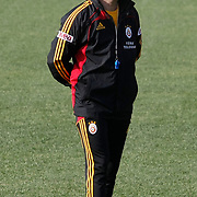 Galatasaray's coach Gheorghe HAGI during their training session at the Jupp Derwall training center, Thursday, January 20, 2011. Photo by TURKPIX