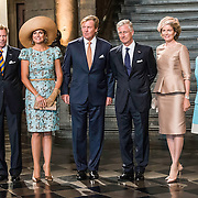 NLD/Maastricht/20140830 - Festivities on the occasion of the 200th jubilee of the Kingdom of the Netherlands in Maastricht - 200 Jaar Koninkrijk der Nederlanden, King Willem-Alexander, Queen Máxima, Groothertog Henri en Groothertogin Maria Teresa van Luxemburg, King Philippe en Queen Mathilde van België en German president Joachim Gauck en partner Daniela Schadt