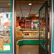 Open door in baker's shop in Munich