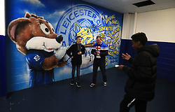 """A general view of Leicester City artwork on a wall inside the ground prior to the Premier League match at the King Power Stadium, Leicester. PRESS ASSOCIATION Photo. Picture date: Saturday December 23, 2017. See PA story SOCCER Leicester. Photo credit should read: Mike Egerton/PA Wire. RESTRICTIONS: EDITORIAL USE ONLY No use with unauthorised audio, video, data, fixture lists, club/league logos or """"live"""" services. Online in-match use limited to 75 images, no video emulation. No use in betting, games or single club/league/player publications."""