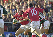 Leicester, Welford Road, Leicestershire, 30/09/2001, Guy Easterby with ball,  during the,  Heineken Cup, match, Leicester Tigers vs Llanelli, Heineken Cup,<br /> [Mandatory Credit: Peter Spurrier/Intersport Images],<br /> Leicester Tigers v Llanelli Euro Cup  <br /> 29/9/01