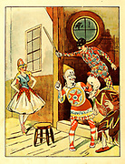 From the book ' Pantomime : a picture show for young people ' Publisher London ; New York : George Routledge & Sons 1883 Printed by Wemple and Company