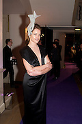 NATALIA VODIANOVA, The Surrealist Ball in aid of the NSPCC. Hosted by Lucy Yeomans and Harry Blain. Banqueting House. Whitehall. 17 March 2011. -DO NOT ARCHIVE-© Copyright Photograph by Dafydd Jones. 248 Clapham Rd. London SW9 0PZ. Tel 0207 820 0771. www.dafjones.com.