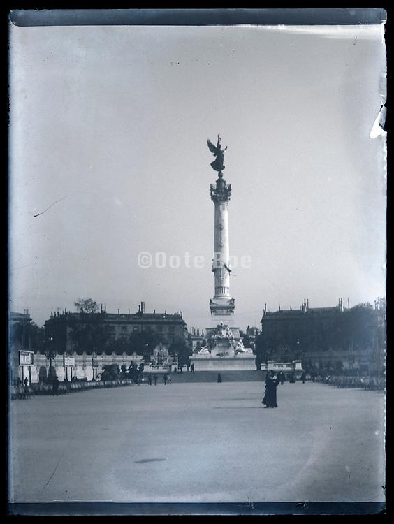 Bordeaux Girondins monument Fountaine des Quinconces France circa 1920s