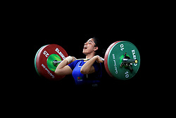 Bangladesh's Juhora Khaton Nisha competes in the Women's 75kg weightlifting at the Carrara Sports Arena during day four of the 2018 Commonwealth Games in the Gold Coast, Australia. PRESS ASSOCIATION Photo. Picture date: Sunday April 8, 2018. See PA story COMMONWEALTH Weightlifting. Photo credit should read: Mike Egerton/PA Wire. RESTRICTIONS: Editorial use only. No commercial use. No video emulation.