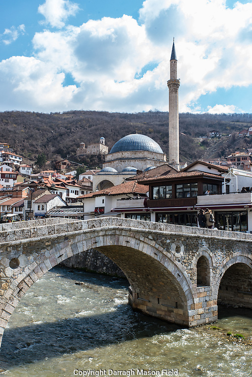 The central mosque in the city of Prizren