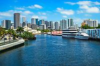 Miami Skyline & Miami River (West End)
