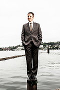 Portraits of Brendan Kennedy, CEO of Tilray Cannabis.  Photographed in Seattle, WA by Brian Smale.
