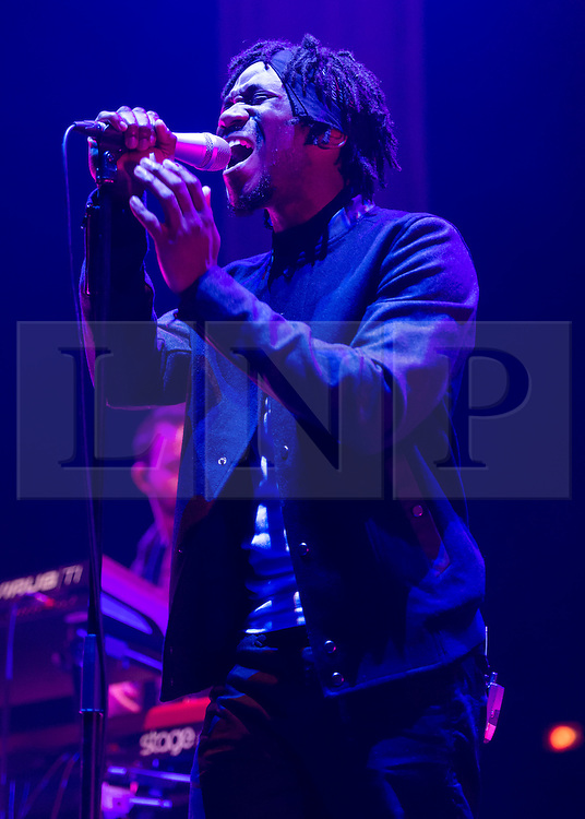 © Licensed to London News Pictures. 29/01/2015. London, UK.   Dornik performing live at Brixton Academy, supporting headliner Jessie Ware.   Dornik is British R&B singer songwriter Dornik Leigh, who has previously worked as tour drummer for Jessie Ware.  Photo credit : Richard Isaac/LNP