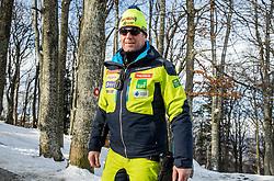 "Klemen Bergant during FIS Alpine Ski World Cup 2017/18 Men's Slalom race named ""Snow Queen Trophy 2018"", on January 4, 2018 in Course Crveni Spust at Sljeme hill, Zagreb, Croatia. Photo by Vid Ponikvar / Sportida"