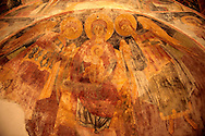 Byzantine Frescos  of the church of the Metamorphosis, Paliachora,  Aegina, Greek Saronic Islands .<br /> <br /> If you prefer to buy from our ALAMY PHOTO LIBRARY  Collection visit : https://www.alamy.com/portfolio/paul-williams-funkystock/aegina-greece.html <br /> <br /> Visit our GREECE PHOTO COLLECTIONS for more photos to download or buy as wall art prints https://funkystock.photoshelter.com/gallery-collection/Pictures-Images-of-Greece-Photos-of-Greek-Historic-Landmark-Sites/C0000w6e8OkknEb8