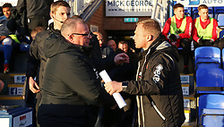 Peterborough United Manager Steve Evans shakes hands with Walsall manager Dean Keates before kick-off - Mandatory by-line: Joe Dent/JMP - 22/12/2018 - FOOTBALL - ABAX Stadium - Peterborough, England - Peterborough United v Walsall - Sky Bet League One