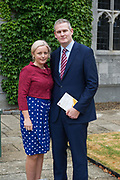 08/07/2018  repro  free:  Sean Kyne TD and his wife Avril at at  The National Day of Commemoration Ceremony at NUI Galway in honour of all those Irishmen and Irish Women who served in past wars or on Service with the UN.Photo:Andrew Downes, XPOSURE