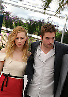 Sarah Gadon, Robert Pattinson, Cosmopolis photocall at the 65th Cannes Film Festival France. Cosmopolis is directed by David Cronenberg and based on the book by writer Don Dellilo.  Friday 25th May 2012 in Cannes Film Festival, France.