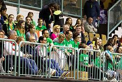 Fans of Akson Ilirija during the basketball match between Akson Ilirija and Cinkarna Celje in Final Round of Pokal Članic 2018/19, on March 10, 2019 in Dvorana Tabor, Maribor, Slovenia. Photo by Blaž Weindorfer / Sportida