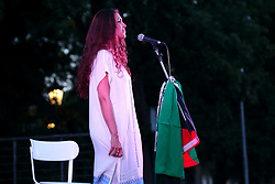 July 18, 2017 - Roma, RM, Italy - Amal Kaawash, Palestinian singer born in Lebanon (Credit Image: © Matteo Nardone/Pacific Press via ZUMA Wire)