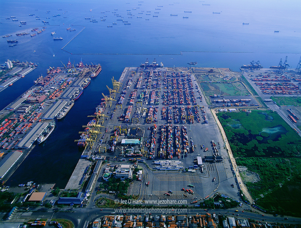 Tanjung Priok Container Port, Jakarta, Java, Indonesia.