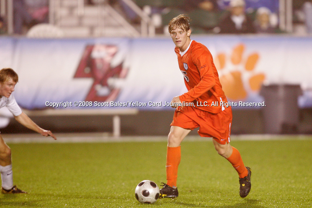 14 November 2008: Virginia's Karter Smith. The University of Virginia defeated Wake Forest 3-2 in two overtimes at WakeMed Stadium at WakeMed Soccer Park in Cary, NC in a men's ACC tournament semifinal game.