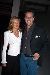 SVEN & ZOE LEY he is heir to the Escada fashion empire at an exhibition of work by Rolf Sachs - a unique world-renowned contemporary furniture designer, held in association with the Louisa Guinness Gallery and held at 250 Brompron Road, London on 6th October 2004.<br />