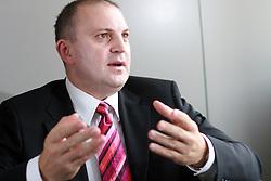 Interview with Dusan Mitic, president of Union Olimpija and manager at Telekom Slovenije, on September 23, 2008 in Telekom Slovenije, Cigaletova 15, Ljubljana, Slovenia. (Photo by Vid Ponikvar / Sportal Images)/ Sportida)