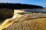 The Hay River at Alexandra Falls  on the Waterfalls Route (Highway)  (Mackenzie Highway)<br /> Twin Falls Gorge Territorial Park<br /> Northwest Territories<br /> Canada