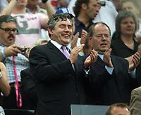Photo: Chris Ratcliffe.<br /> Sweden v England. FIFA World Cup 2006. 20/06/2006.<br /> Scottish Chancellor Gordon Brown.