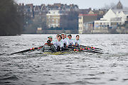 London. UNITED KINGDOM.   Tideway Week. 159th BNY Mellon Boat Race on the Championship Course, River Thames, Putney/Mortlake.  Saturday  30/03/2013    [Mandatory Credit. Intersport Images]<br /> <br /> The 18th Oxford & Cambridge Veterans' Race<br /> From Putney Stone to Furnivall Steps.<br /> <br /> Cambridge<br /> Bow, Magnus Burbanks, 2, Piers Curle, 3, Peter Jacobs, 4, Lucas Hirst, 5, Guy Pooley, 6, Matt Parish, 7, Stephen Peel, Stroke, Sean Gorvy, Cox, Liz Box