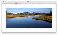 Marshal Brook - a wetland, marsh and winding river at Acadia National Park, Maine, USA
