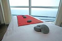 Celebrity Eclipse interior photos..The Spa, a treatment room.