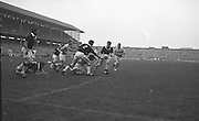 All Ireland Senior Football Final Galway v. Dublin 22nd September 1963 Croke Park..Colleran, Galway (No.2) and team-mate McDonagh have this ball safe as Dublin forwards players Ferguson and Timmons advance ..22.09.1963  22nd September 1963