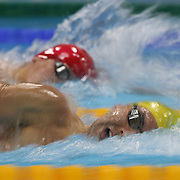 Ryan Napoleon, Australia, in action in the Men's 400m Freestyle heats during the swimming heats at the Aquatic Centre at Olympic Park, Stratford during the London 2012 Olympic games. London, UK. 28th July 2012. Photo Tim Clayton