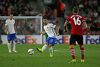Football - 2016 / 2017 Europa League - Group K: Southampton vs. Sparta Prague<br /> <br /> Lukas Vacha of Sparta Praha sets up an attack during the Europa League game between Southampton and Sparta Prague at St Mary's Stadium Southampton <br /> <br /> Colorsport/Shaun Boggust