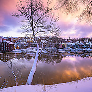 www.aziznasutiphotography.com                                          Picture has been taken in between in a calm and beautiful March sunrise from Trondheim in Norway