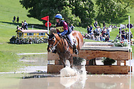Hannah Bate on Riverside Vision during the International Horse Trials at Chatsworth, Bakewell, United Kingdom on 13 May 2018. Picture by George Franks.