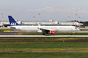 SAS - Scandinavian Airlines, Airbus A321 at Milan, Italy