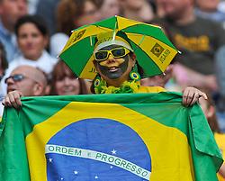 06-07-2011 VOETBAL: FIFA WOMENS WORLDCUP 2011 EQUATORIAL GUINEA - BRAZIL: FRANKFURT<br /> Fan of Brazil<br /> ***NETHERLANDS ONLY***<br /> ©2011-FRH- NPH/Roth