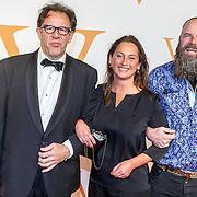 NLD/Katwijk/20151030 - 5 Jarig jubileumvoostelling musical Soldaat van Oranje, Maarten Wansink en partner