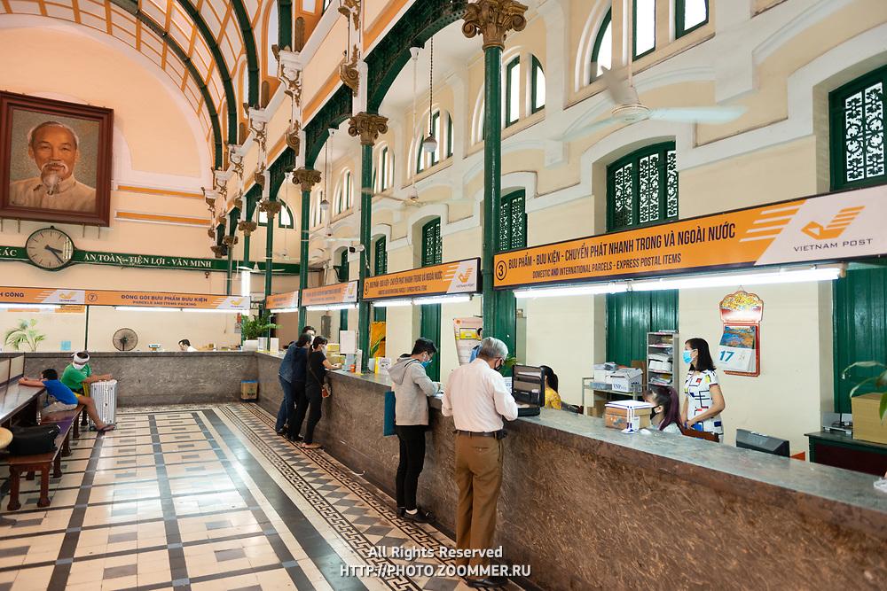 Desks of Saigon Central Post Office