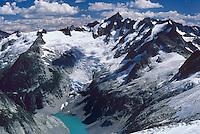 Forbidden Peak, Glacier, Lake, from Eldorado Pk, North Cascades National Park, WA