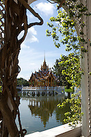 Phra Thinang Aisawan Thiphya Art is a Thai style pavilion with four porches and a spired roof built by King Chulalongkorn in the middle of the Summer Palace pond at Bang Pa-In. It is a replica of the Phra Thinang Aphonphimok Prasat in the Grand Palace at Bangkok, which was built by his father, King Mongkut. King Chulalongkorn named this building Aisawan Thiphya-Art after King Prasat Tong's original pavilion.