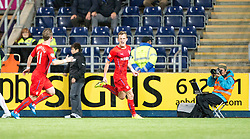 Rangers Dean Shiels celebrates after scoring their second goal. Falkirk 1 v 3 Rangers, Scottish League Cup game played 23/9/2014 at The Falkirk Stadium.