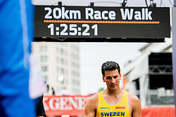 August 11, 2018 - Berlin, GERMANY - 180811 Perseus KarlstrÅ¡m of Sweden after the men's 20 km race walk final during the European Athletics Championships on August 11, 2018 in Berlin..Photo: Vegard Wivestad GrÂ¿tt / BILDBYRN / kod VG / 170204 (Credit Image: © Vegard Wivestad Gr¯Tt/Bildbyran via ZUMA Press)