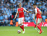 Arsenal's Rob Holding in action during the FA Cup Semi Final match at Wembley Stadium, London. Picture date: April 23rd, 2017. Pic credit should read: David Klein/Sportimage